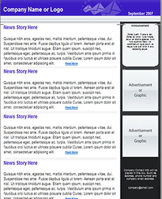 free newsletter template html email template tried tested