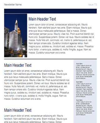 Free Business Newsletter Template  Html Email Template  Tried
