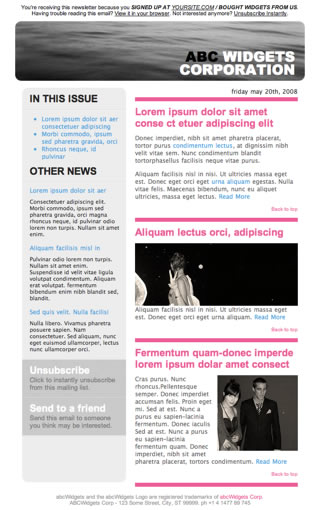 Download Free Newsletter Template | Html Email Template