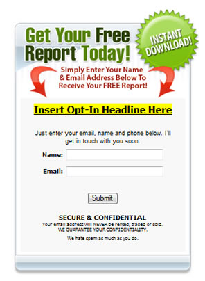 Free subscription form template email opt in template for Free opt in form templates