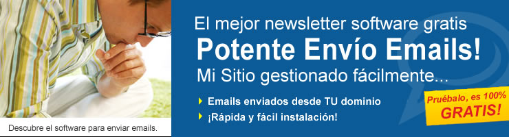 Enviar email. Programa para bulk email, newsletter software y email software
